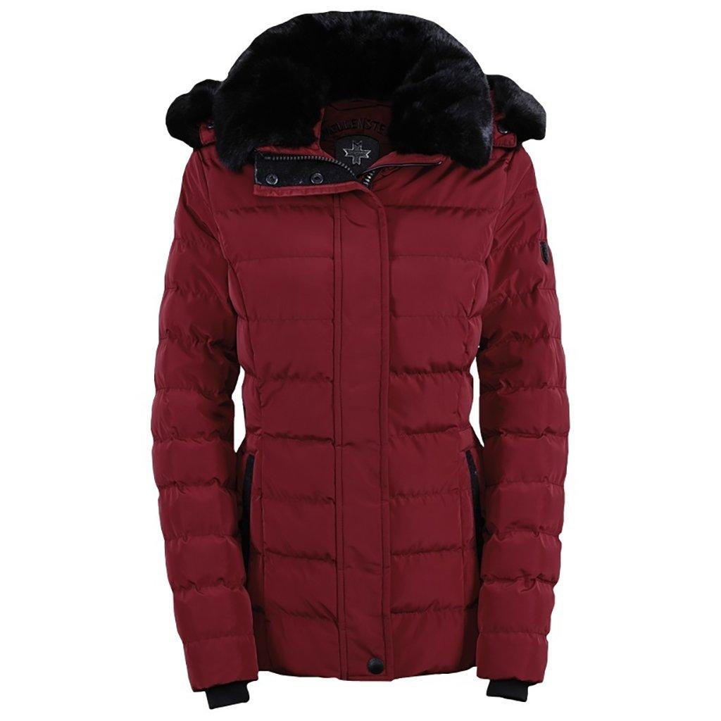 WELLENSTEYN Santorin kožušinová dámska tmavočervená bunda