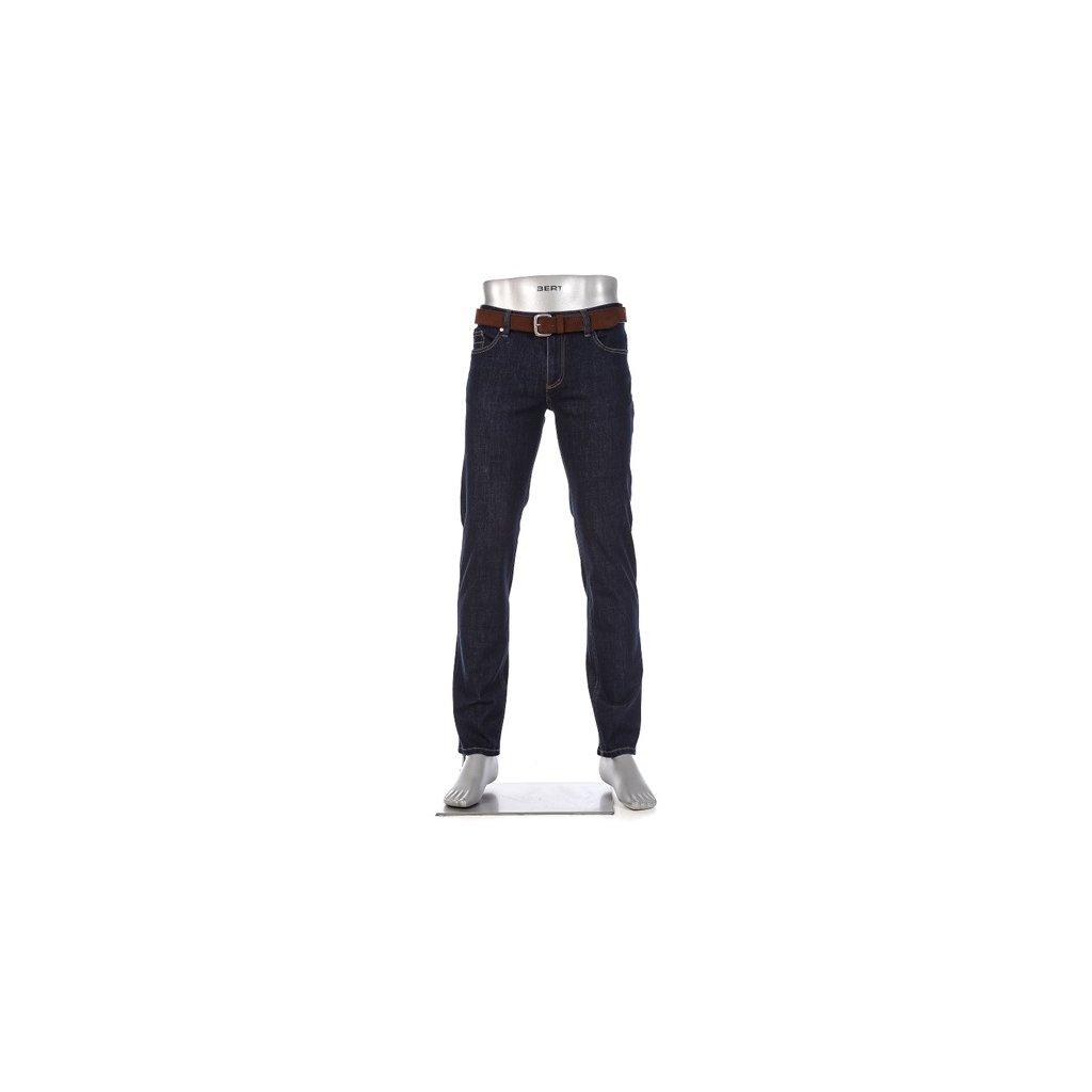 Pánske luxusné modré džínsy so strečom ALBERTO