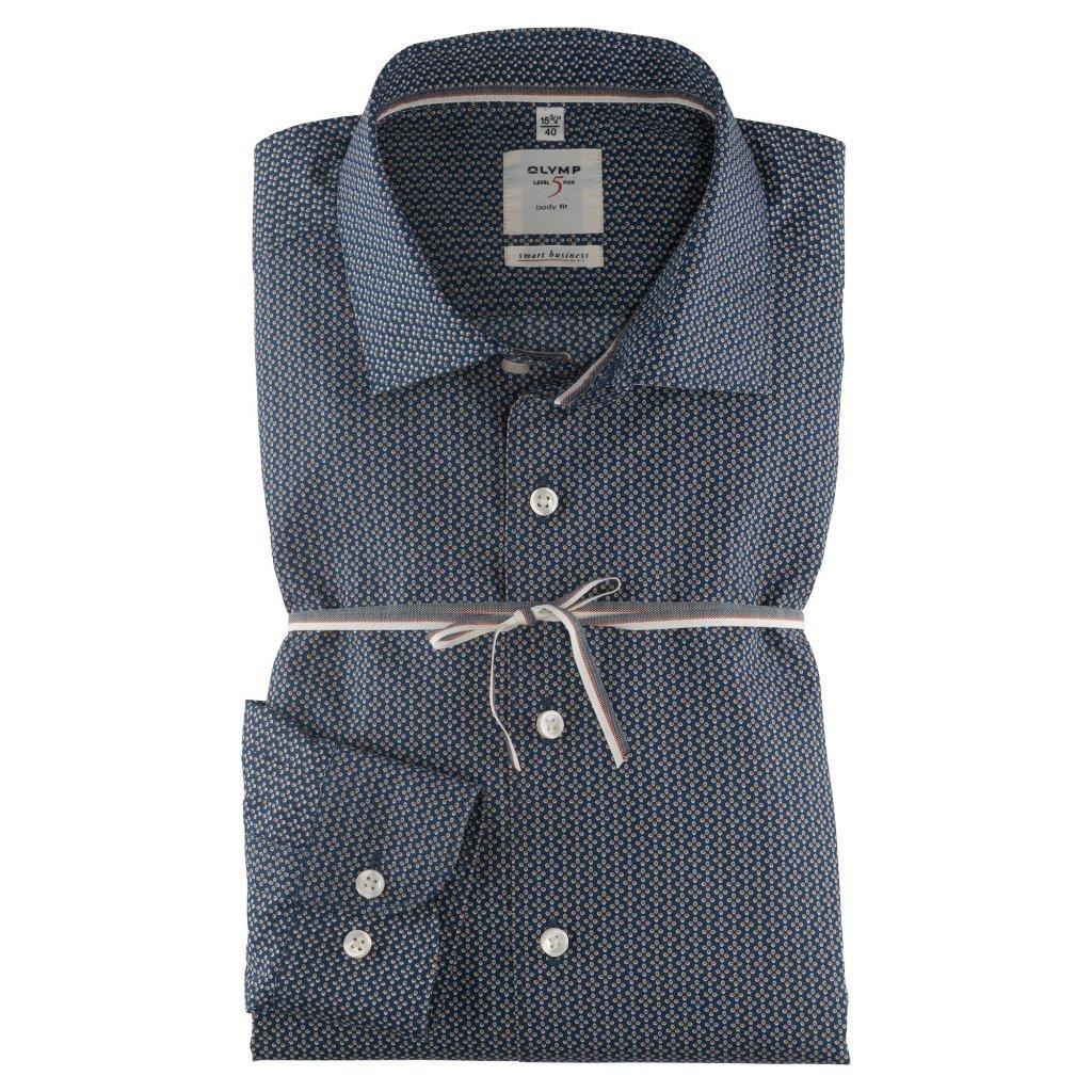 Kvalitná biznis modrá košeľa OLYMP, slim