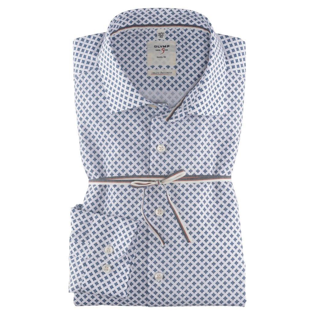 Vzorovaná biznis košeľa OLYMP, predĺžený rukáv