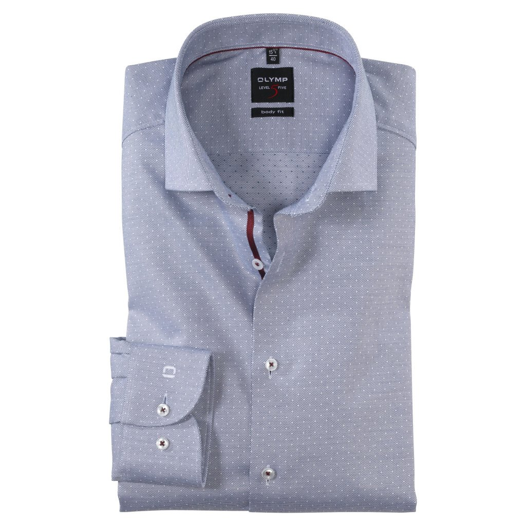 Luxusná modrá košeľa OLYMP, body fit