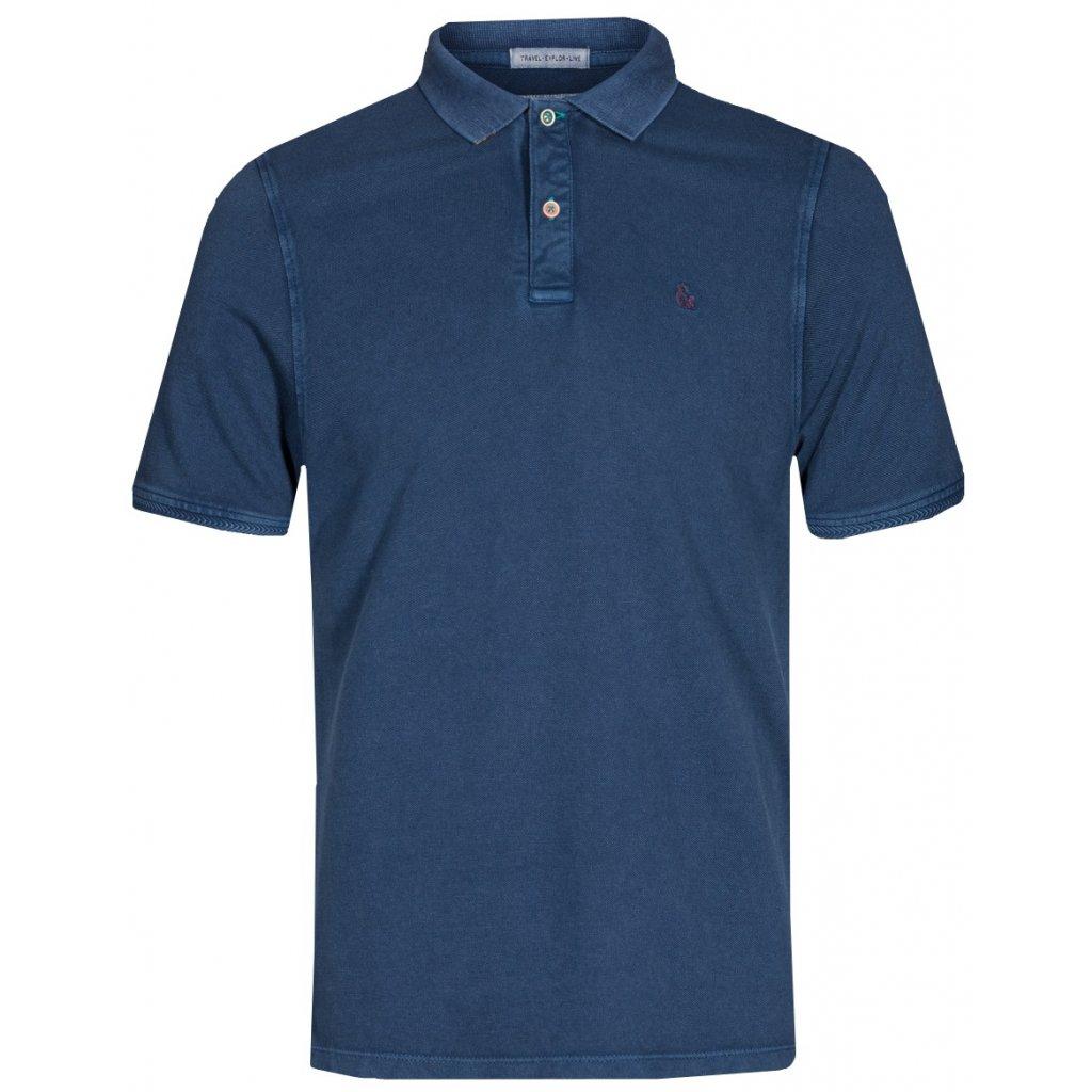 Pánska modrá polokošeľa COLOURS&SONS krátky rukáv