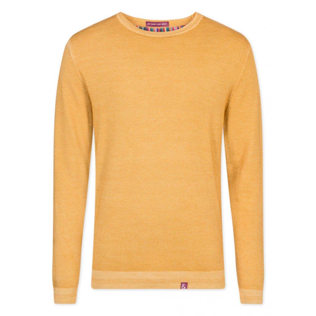 Kvalitný pánsky žltý pulóver COLOURS&SONS