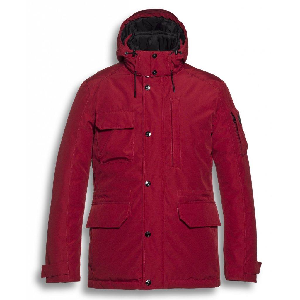 Pánska moderná bunda na zimu RESET s kapucňou