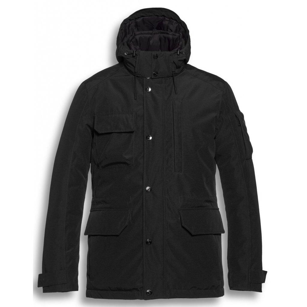 Značková pánska čierna bunda na zimu RESET