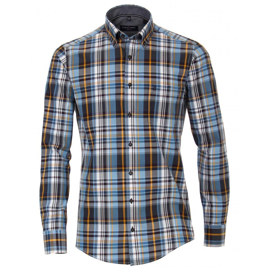 Moderná károvaná košeľa CASA MODA modrá
