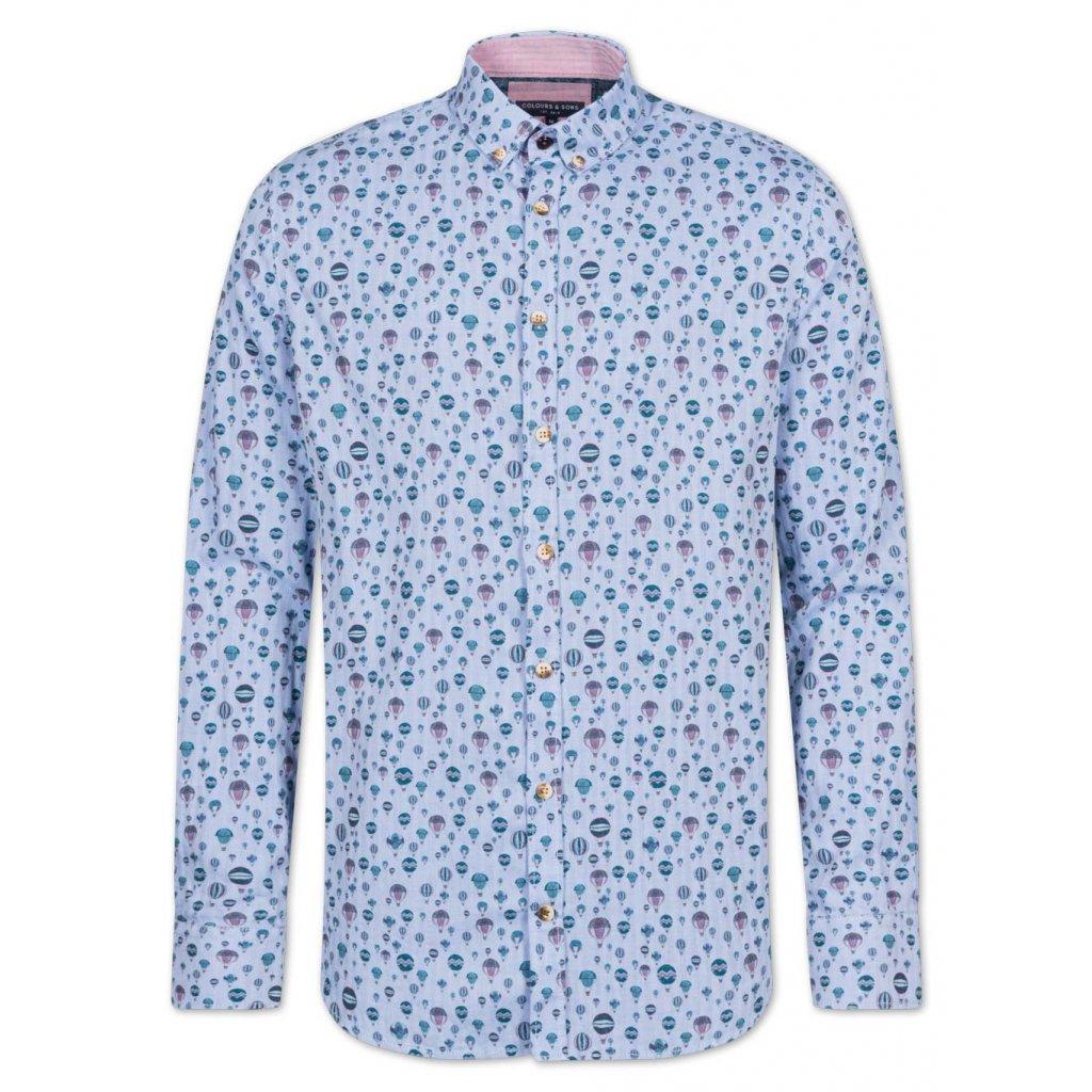 Voľnočasová značková košeľa COLOURS&SONS s farebnou potlačou