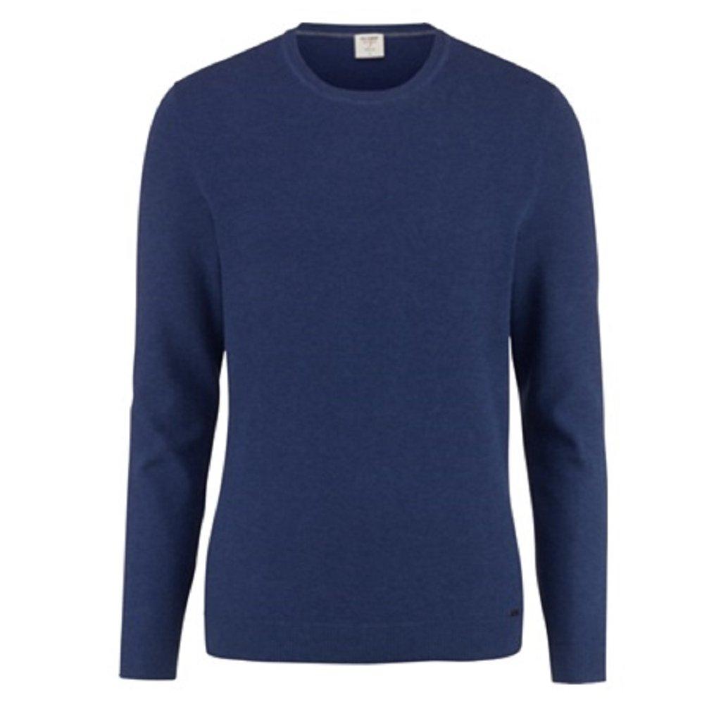 Pánsky modrý bavlnený pulóver OLYMP, body fit