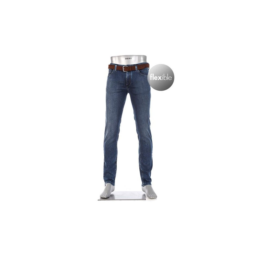 Pánske elastické komfortné džínsy ALBERTO