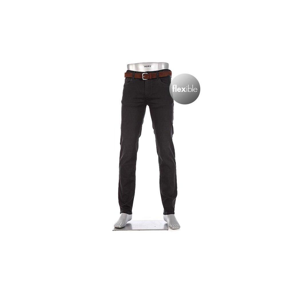Pánske čierne elastické džínsy ALBERTO