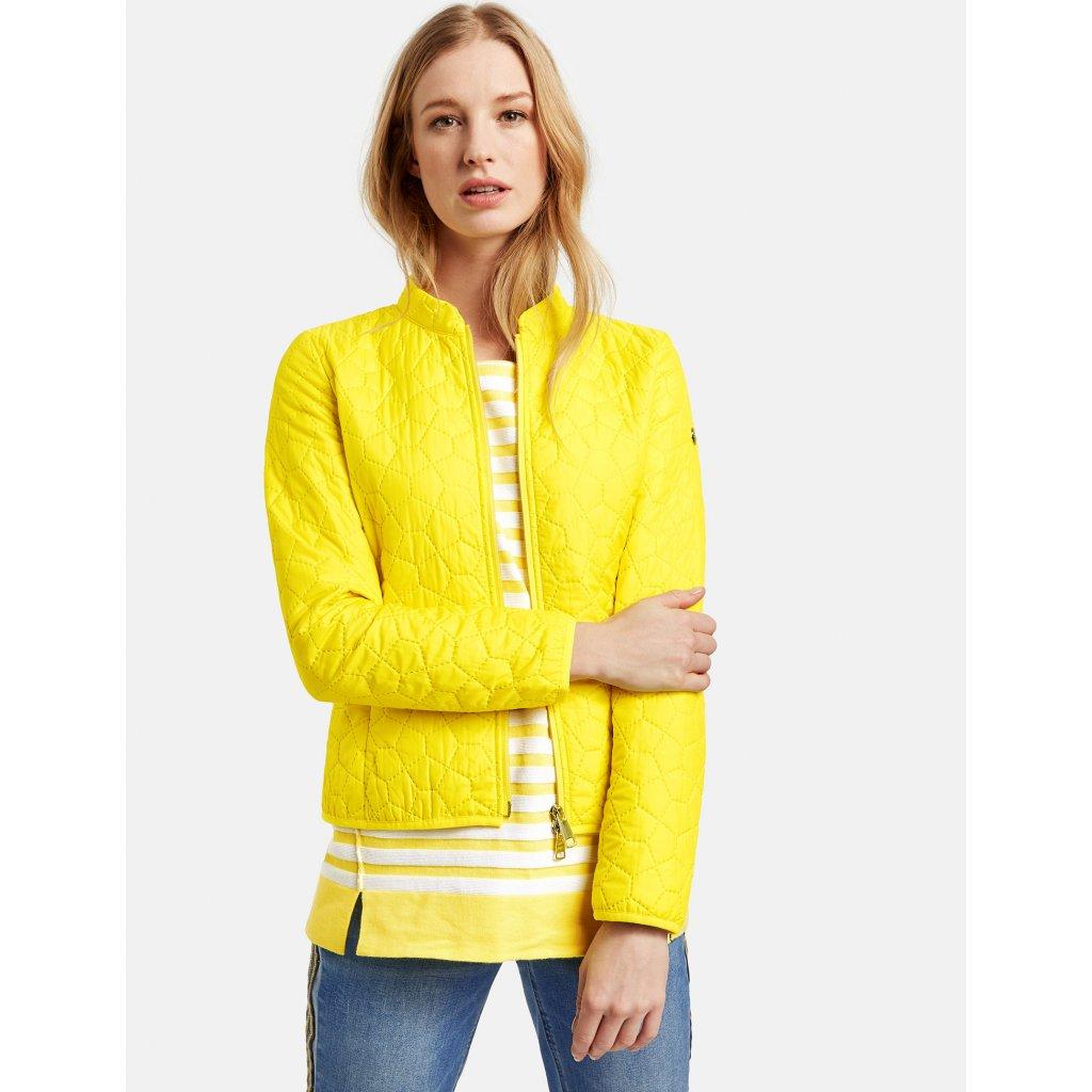 Ľahká žiarivo žltá bunda TAIFUN