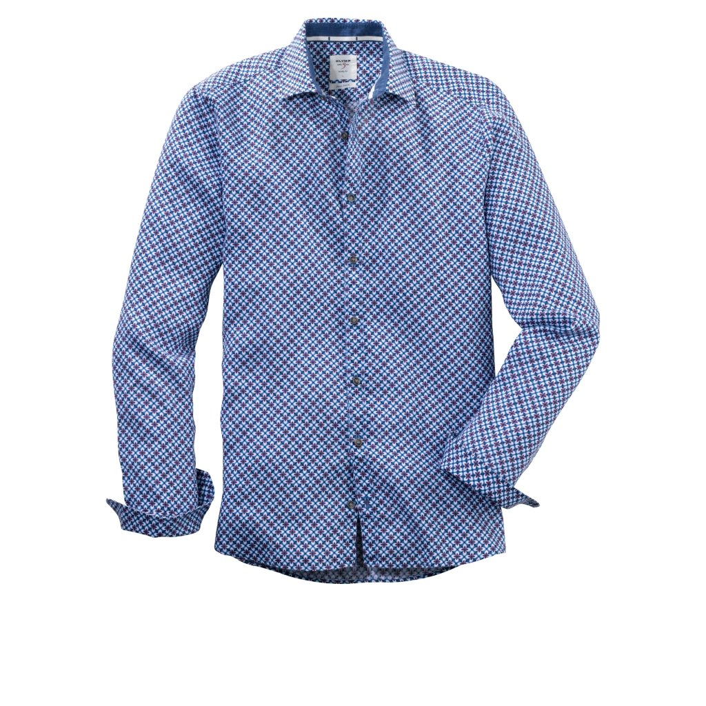 Pánska ľanová casual košeľa OLYMP, body fit