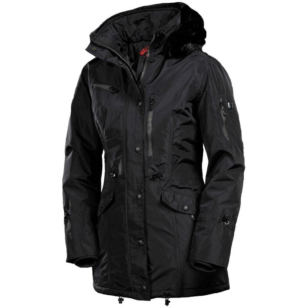 WELLENSTEYN Amethyst Parka mestská zimná dámska čierna bunda