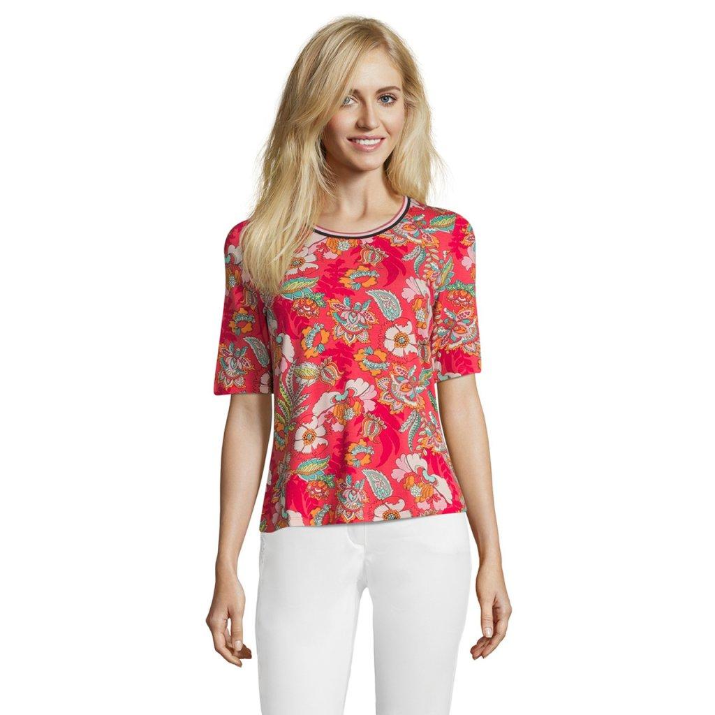 Dámske ružové kvetované tričko BETTY BARCLAY - FAMON