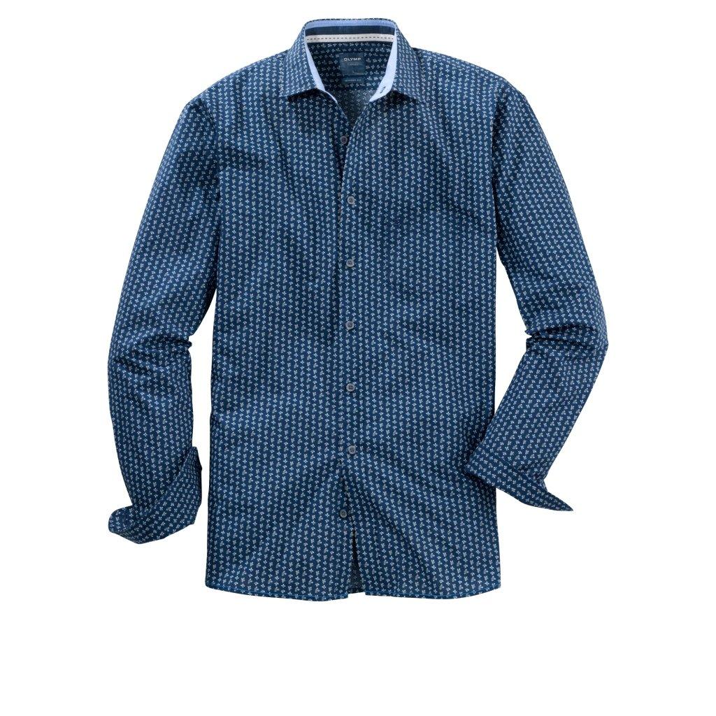 Pánska bavlnená casual košeľa OLYMP, modern fit