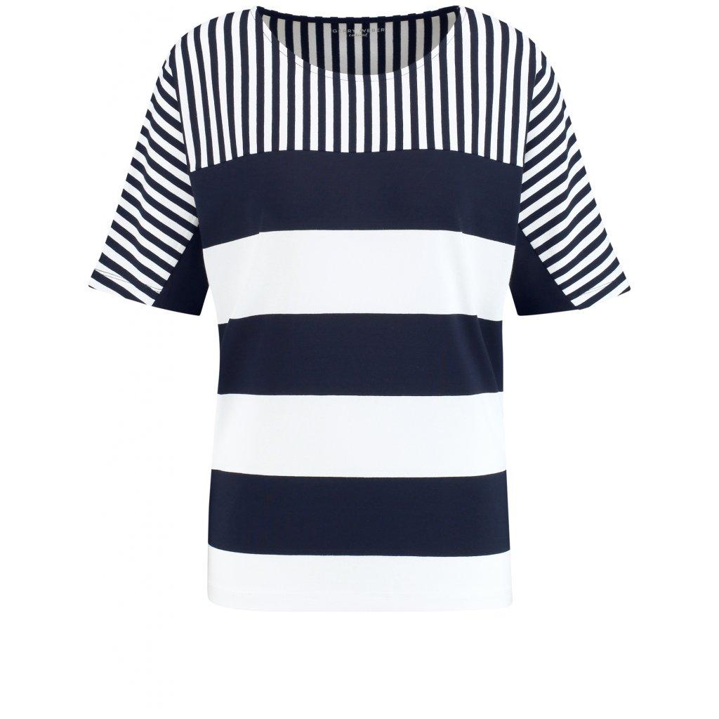 Dámske bielo-modré pásikavé tričko GERRY WEBER