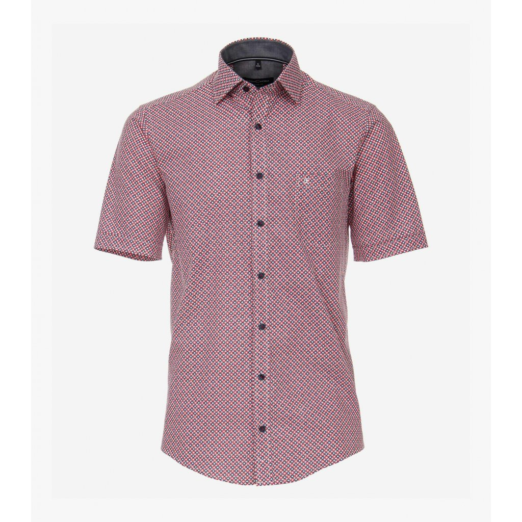 Pánska košeľa s krátkym rukávom CASA MODA, nadmerná veľkosť
