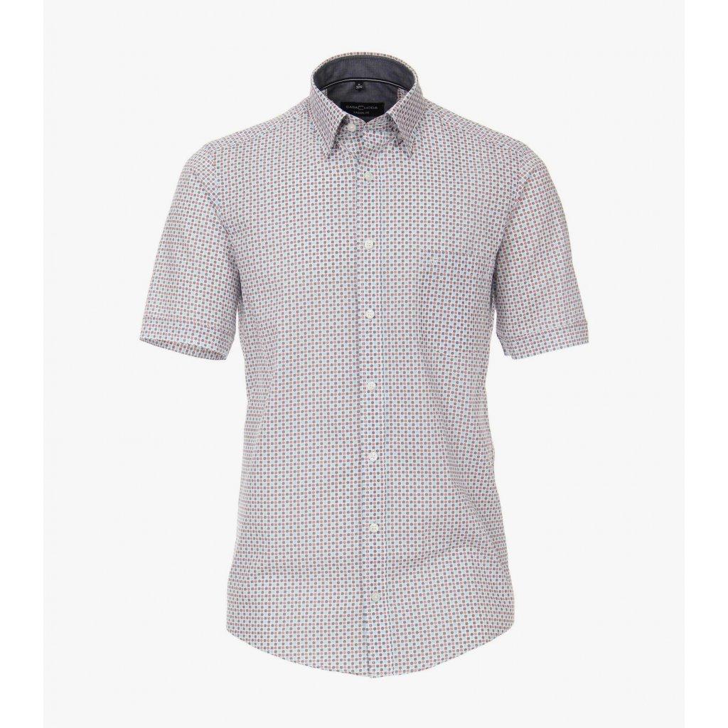 Pánska bavlnená košeľa s krátkym rukávom CASA MODA, rovný strih