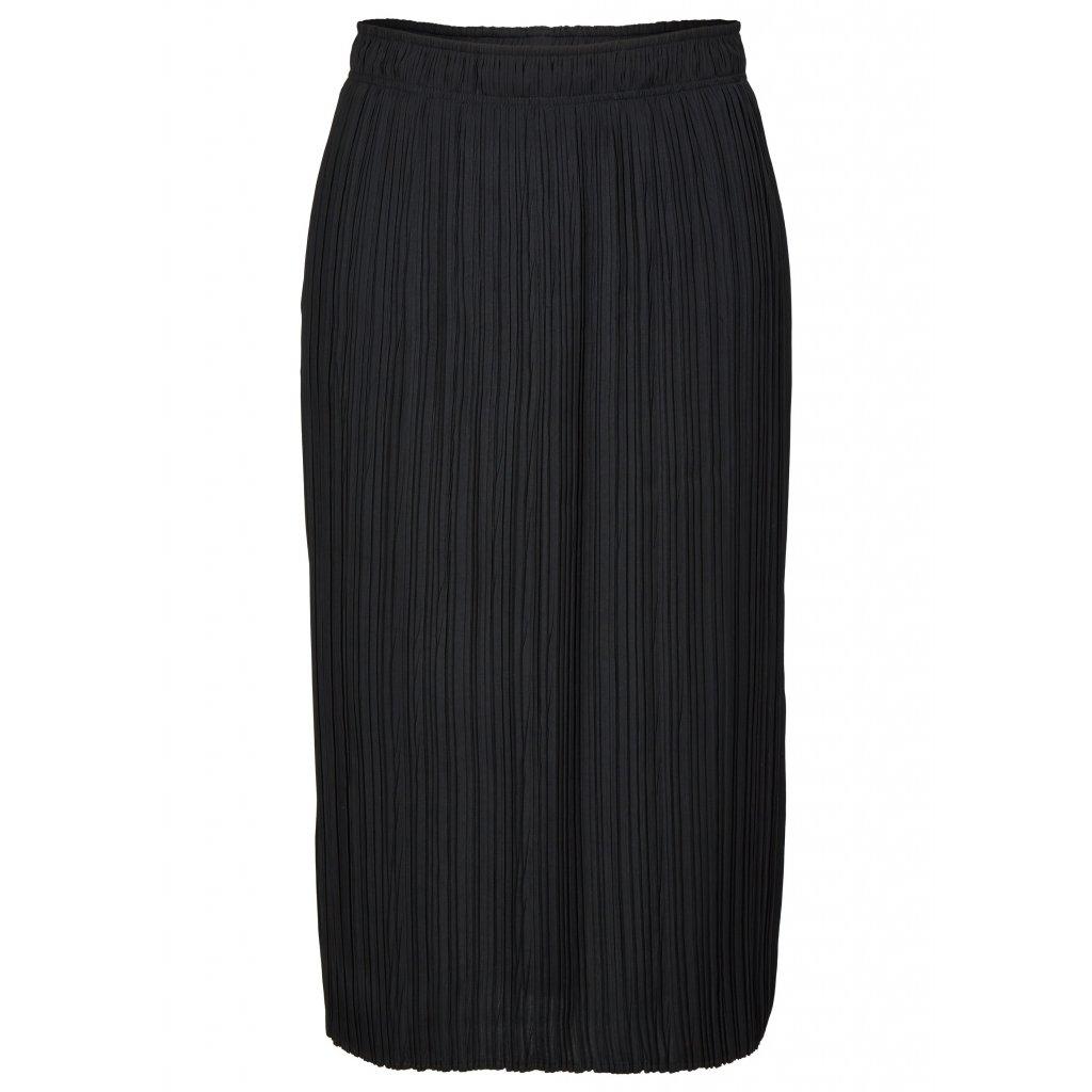 Dlhá čierna nariasená sukňa LE COMTE
