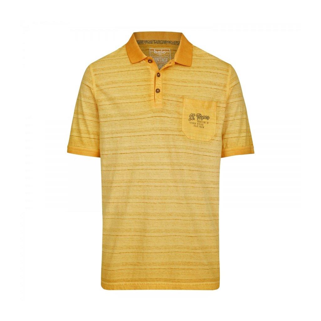 Pánska bavlnená žltá polokošeľa HAJO, modern fit