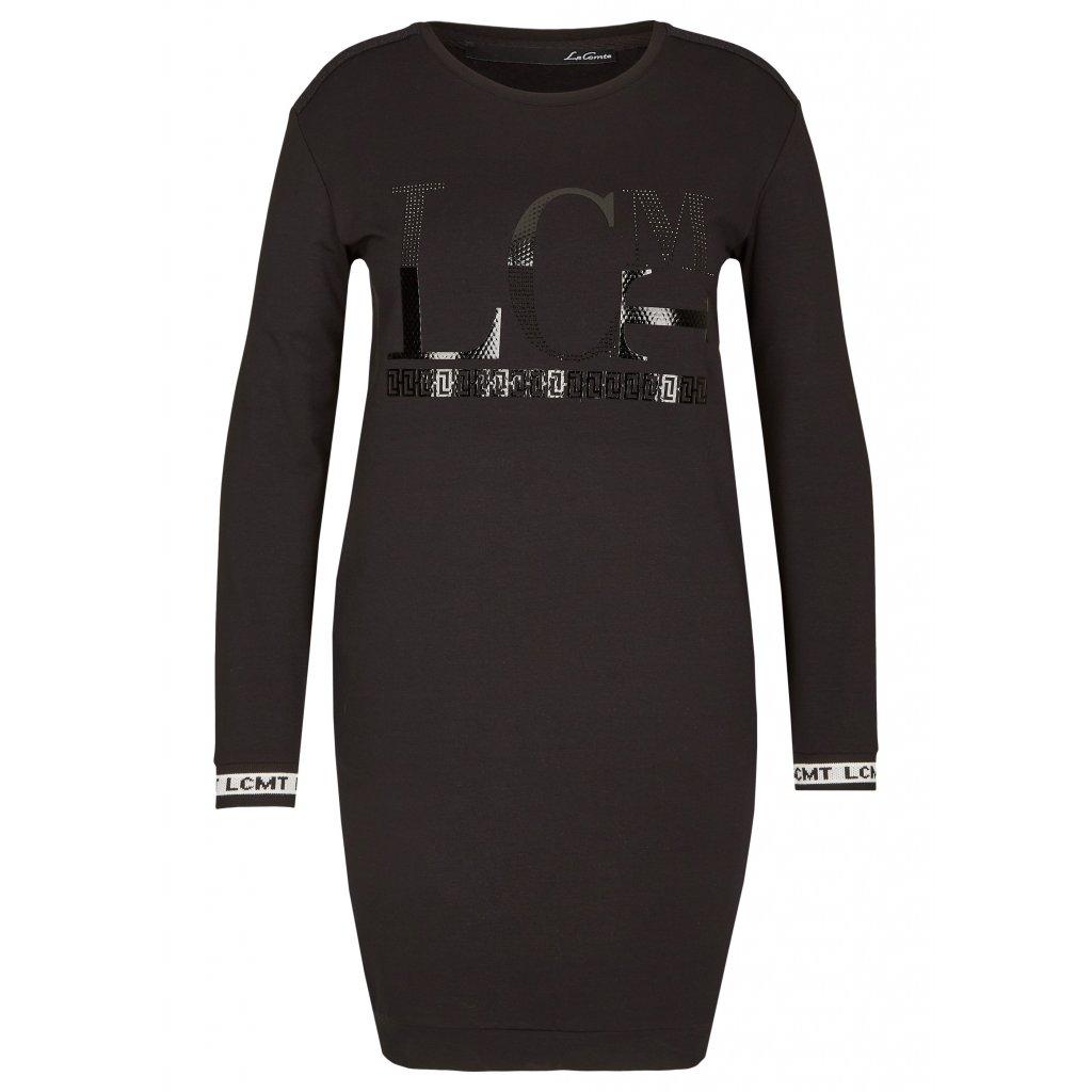 Pohodlné úpletové šaty s výraznými patentmi LE COMTE