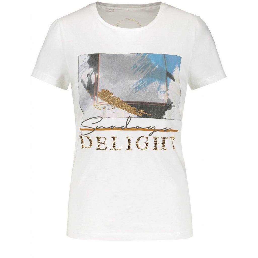BIele tričko s nápisom TAIFUN
