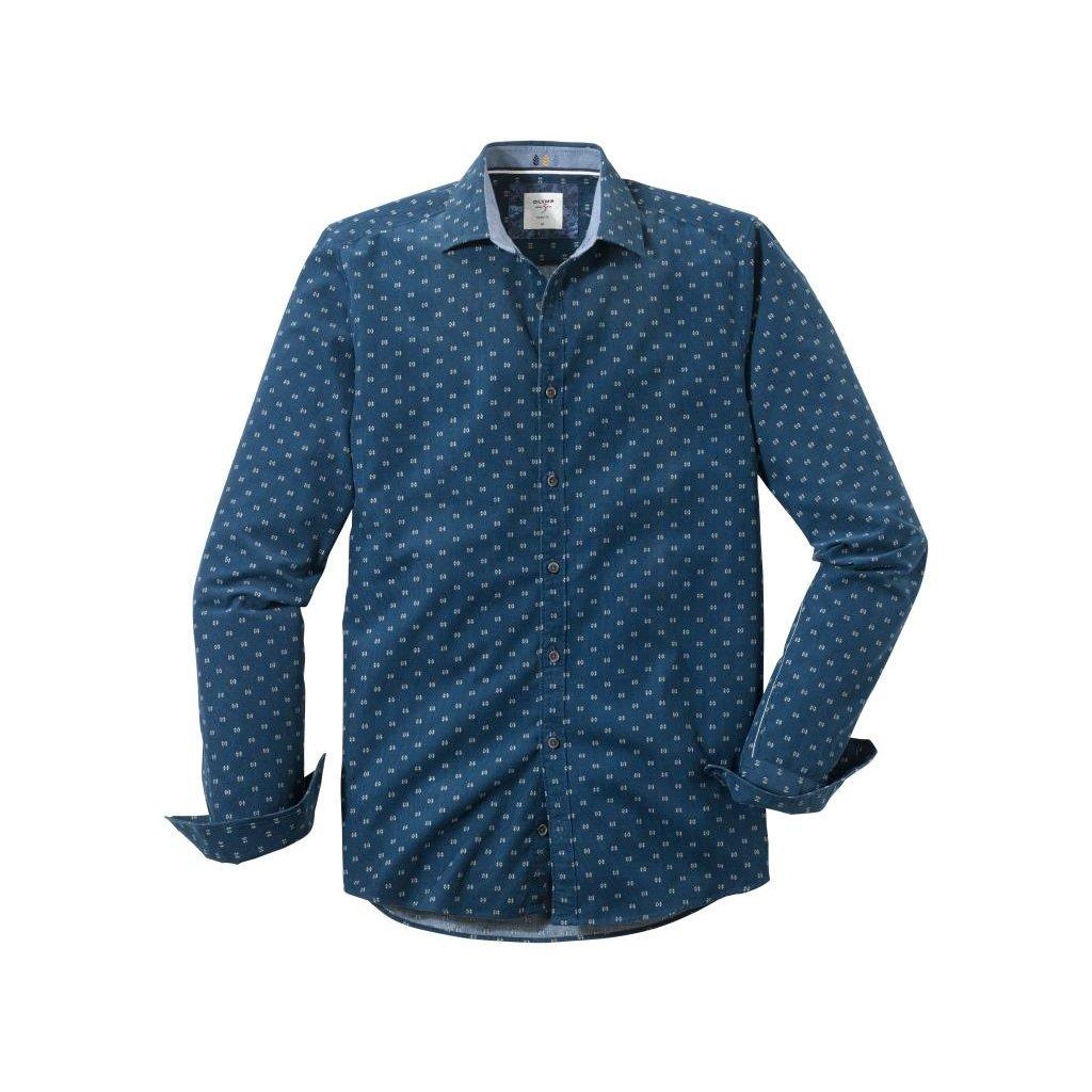 Pánska bavlnená casual košeľa OLYMP, body fit
