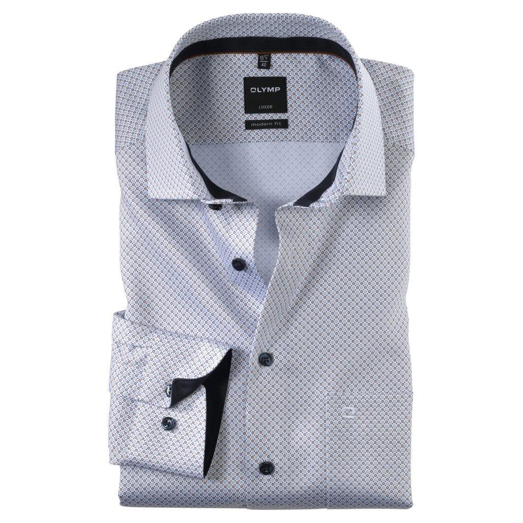 Pánska bavlnená košeľa OLYMP, modern fit, nadmerná veľkosť