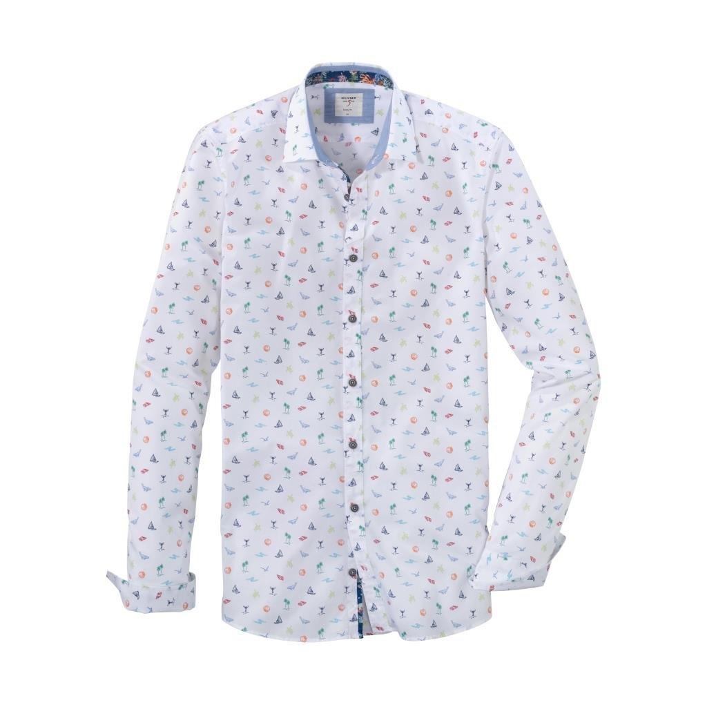 Pánska casual bavlnená košeľa OLYMP, body fit