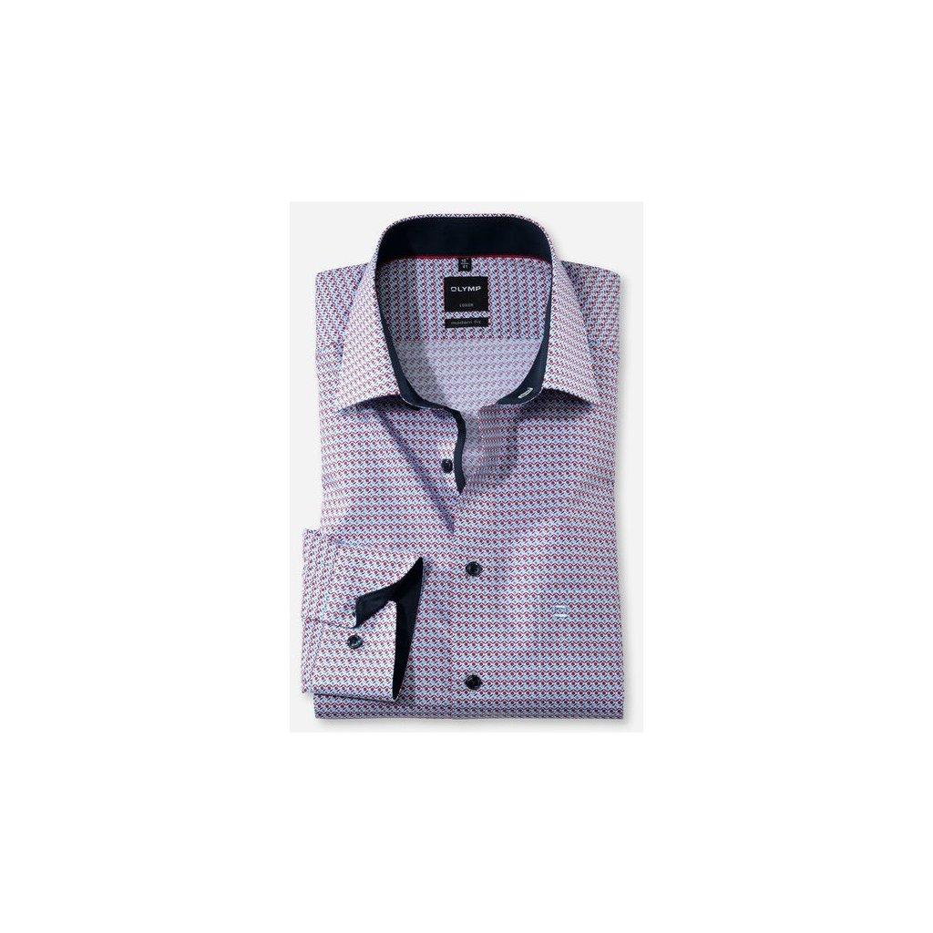 Pánska bavlnená nežehlivá košeľa OLYMP, modern fit