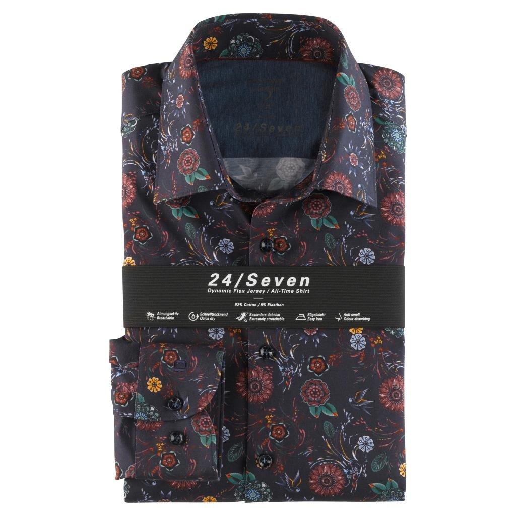 Pánska funkčná bavlnená košeľa 24/Seven OLYMP, body fit