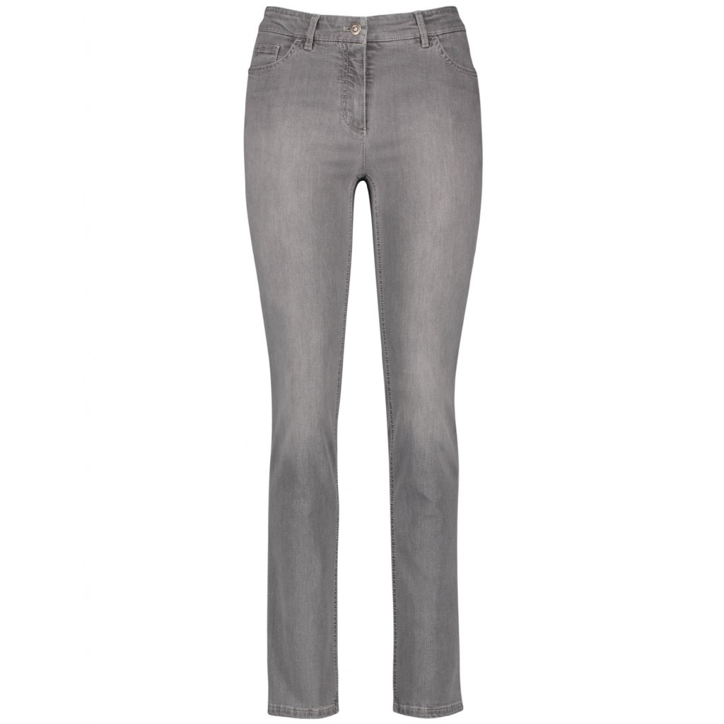 Dámske sivé džínsy v rovnom strihu GERRY WEBER