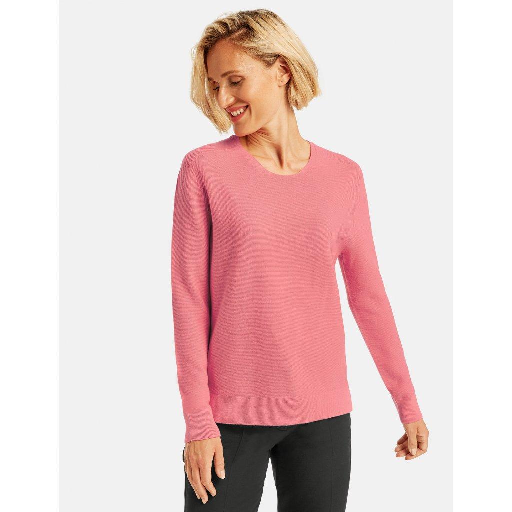 Dámsky ružový bavlnený pulóver GERRY WEBER