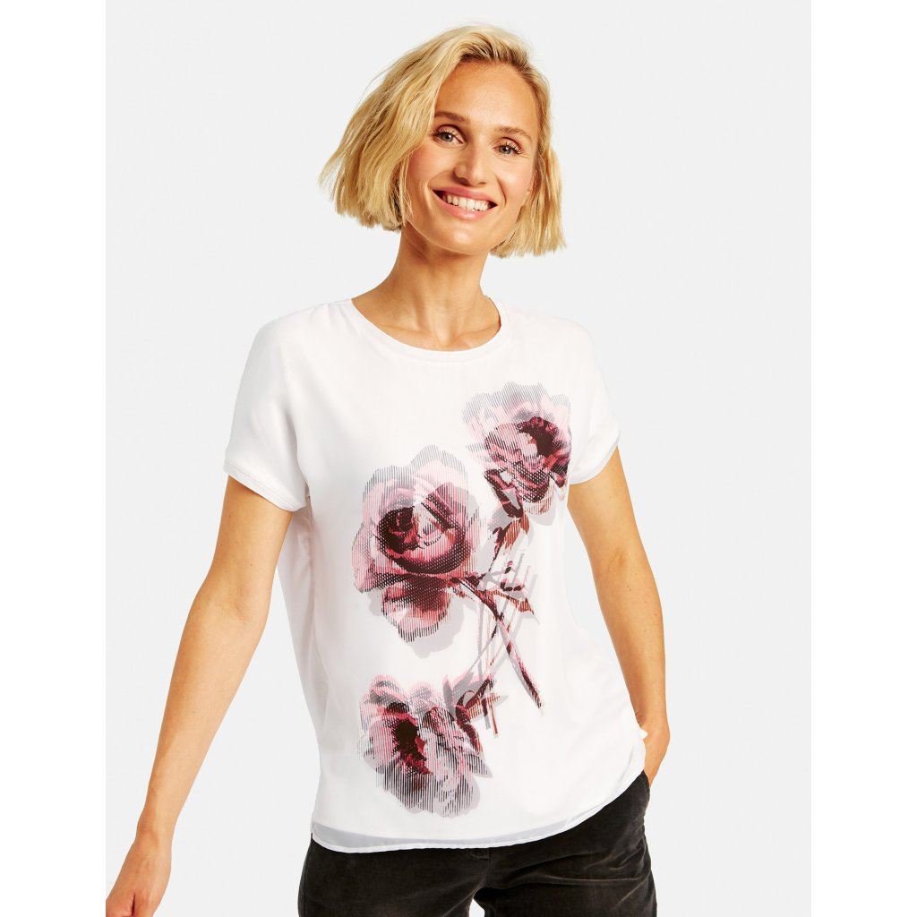 Dámske biele tričko s potlačou GERRY WEBER