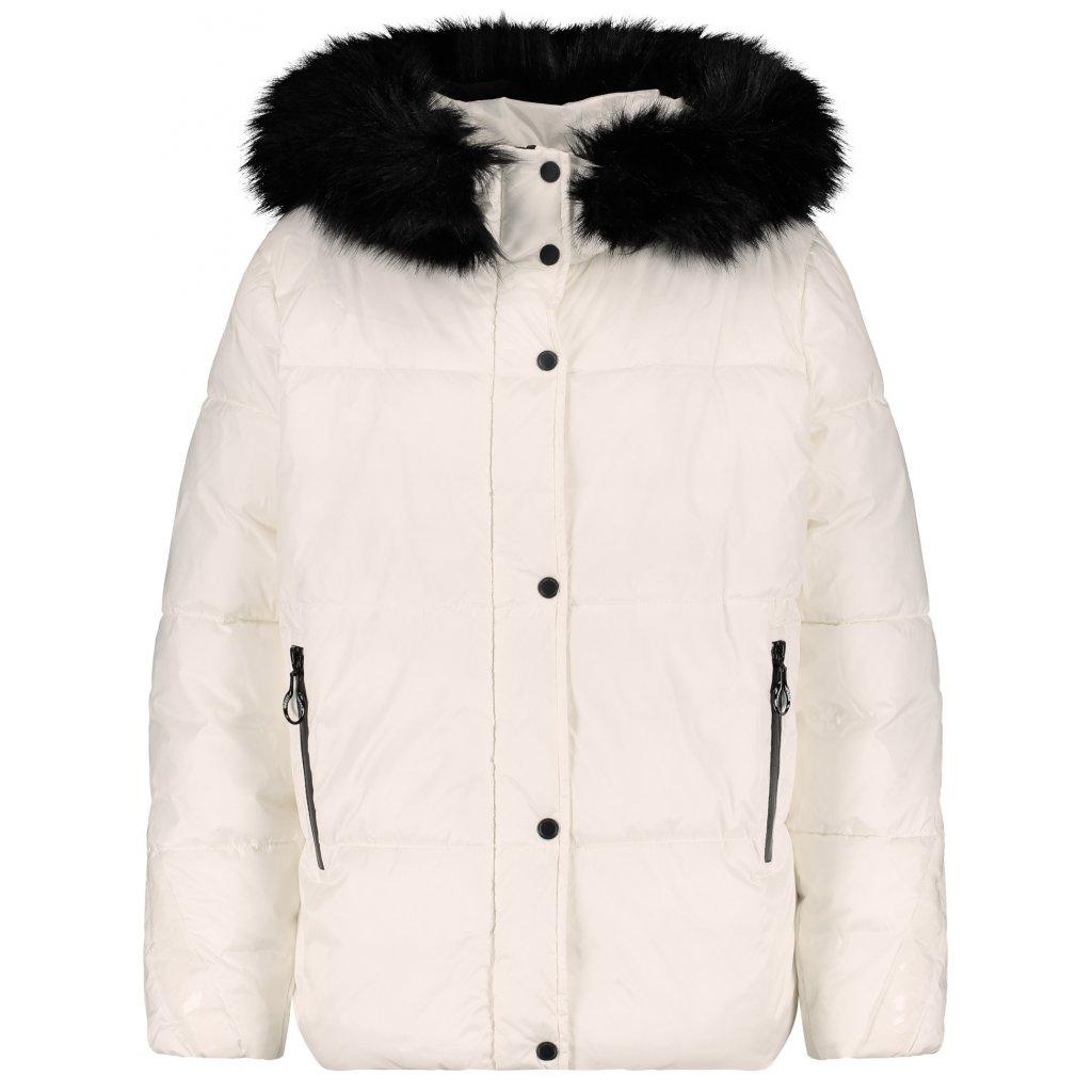 Dámska krátka biela bunda s kožušinou GERRY WEBER