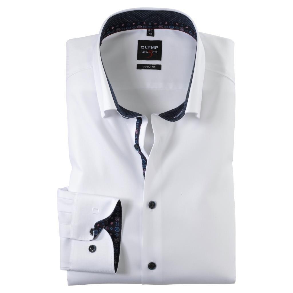 Pánska biela elegantná košeľa OLYMP, body fit