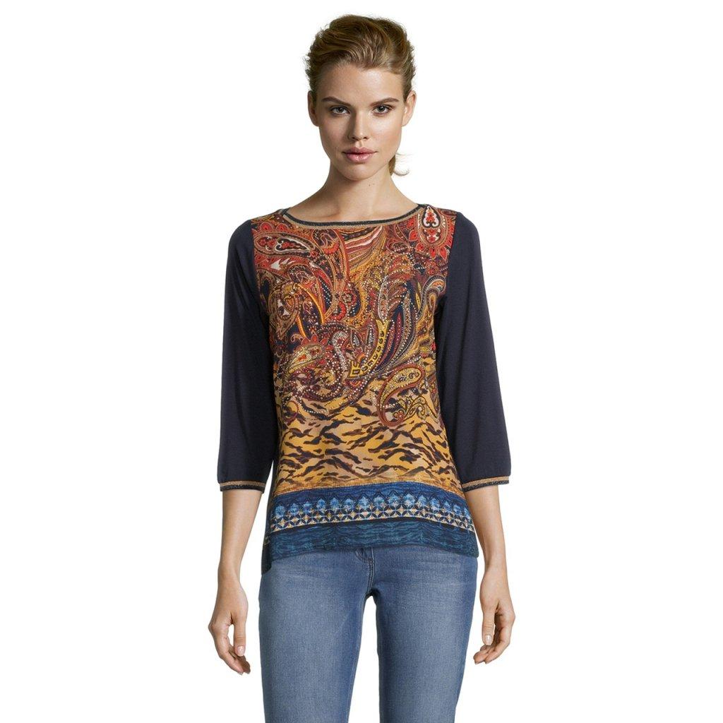 Dámske tričko s kašmírovým vzorom BETTY BARCLAY