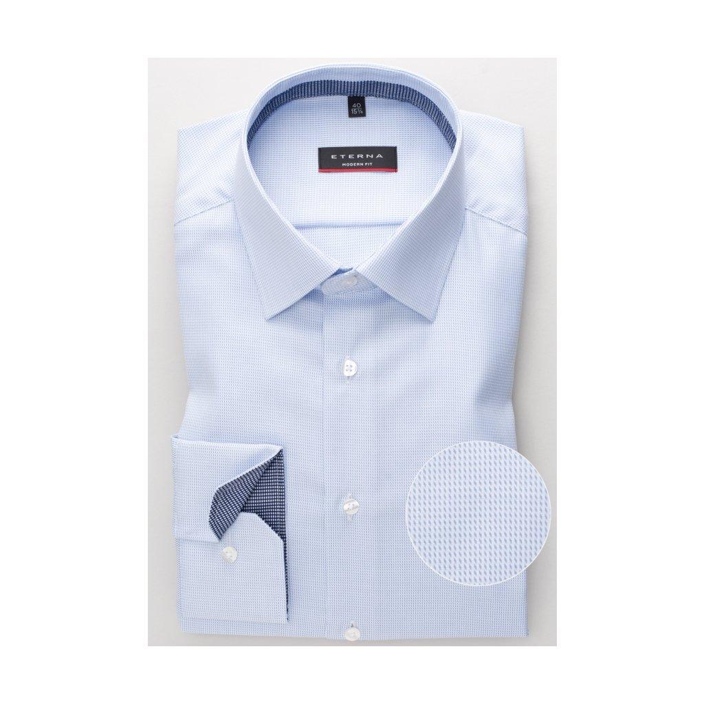 Pánska bavlnená twilová košeľa ETERNA, modern fit