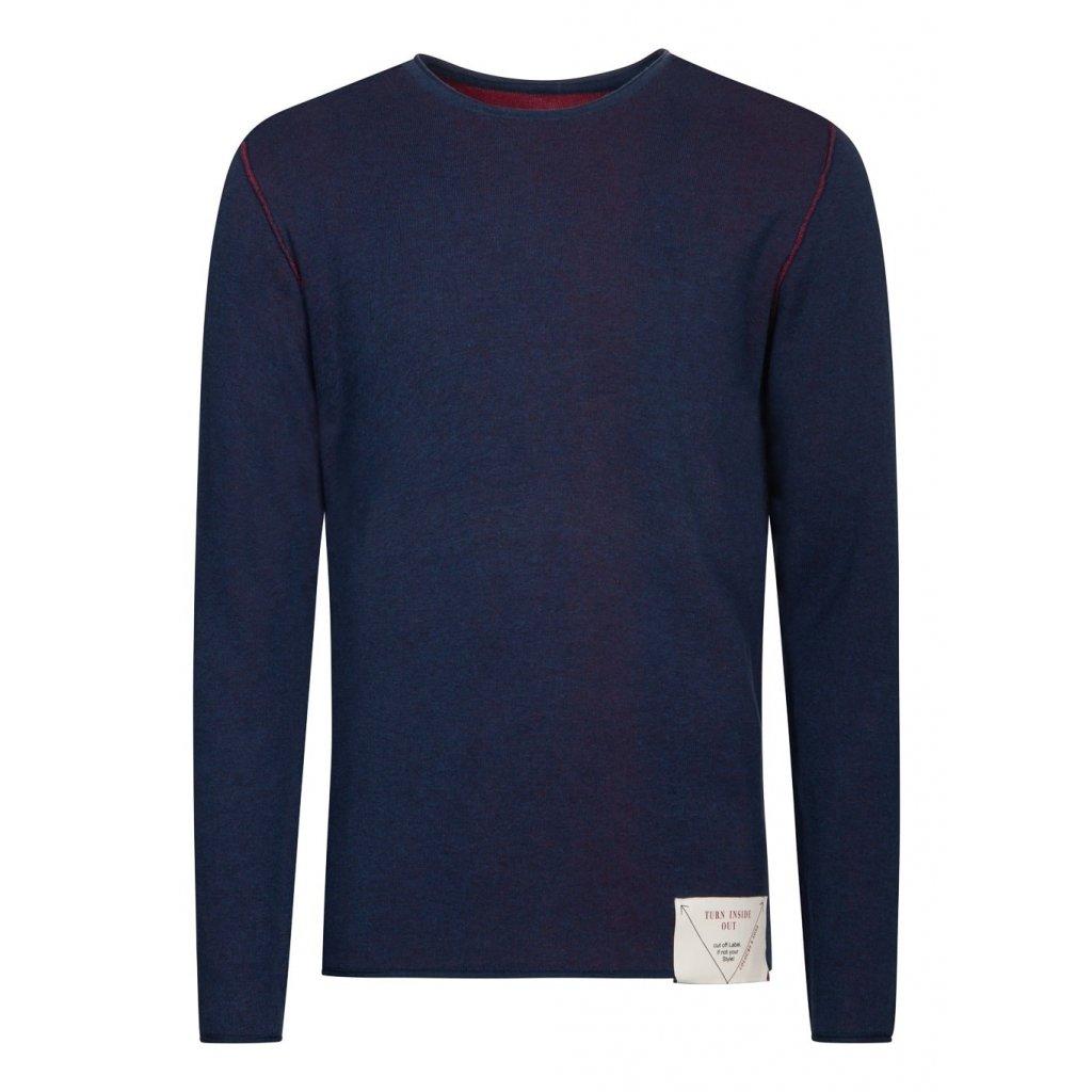 Pánsky obojstranný modro/červený bavlnený pulóver COLOURS&SONS