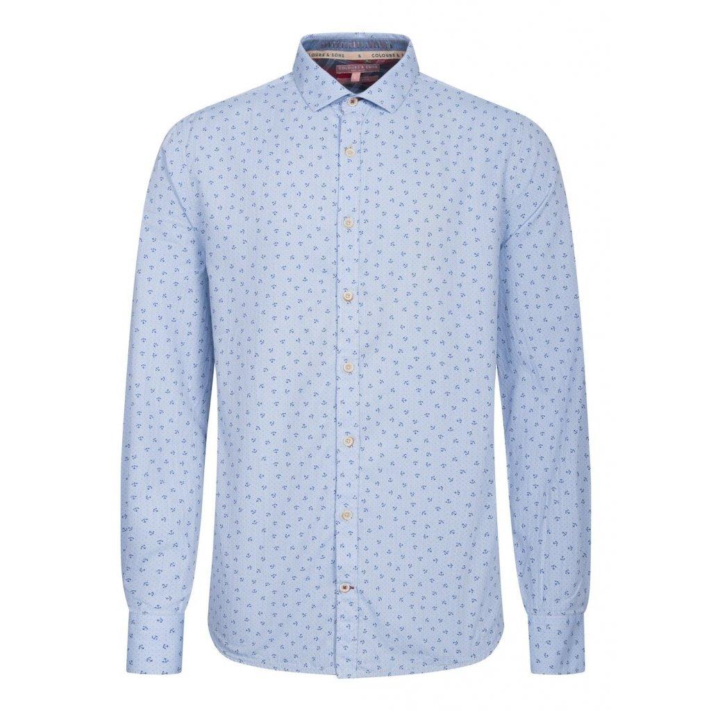 Pánska casual bavlnená košeľa s kotvičkami COLOURS&SONS