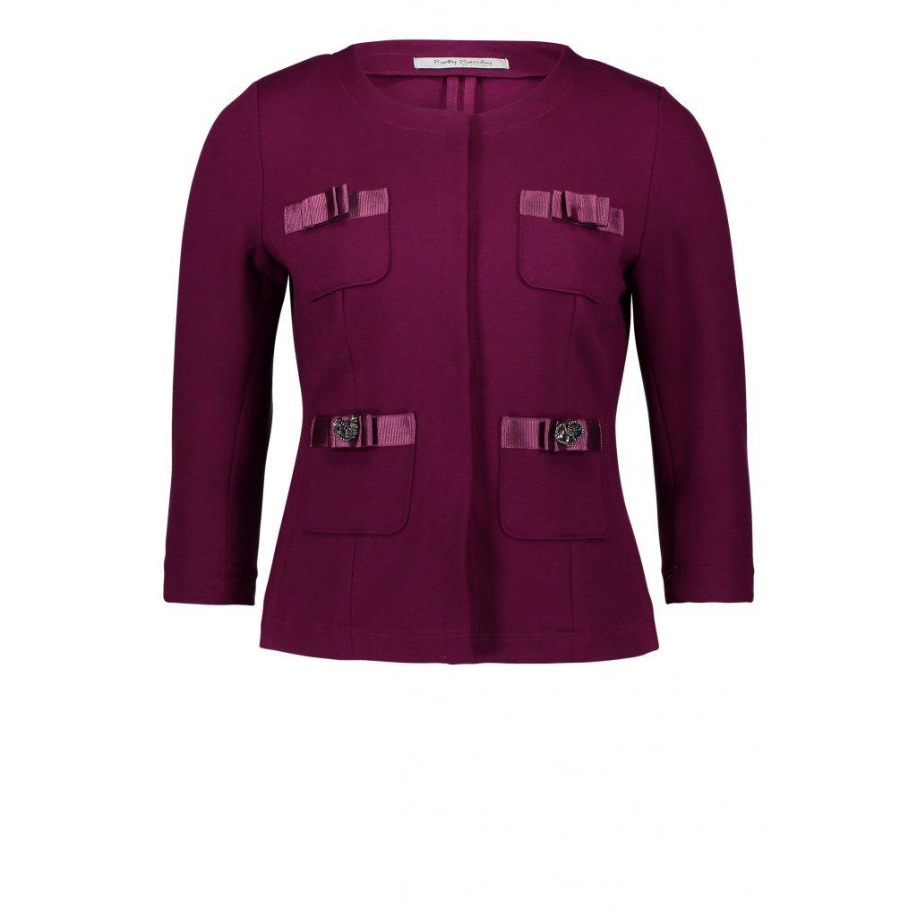 Dámske bordové sako s ozdobami BETTY BARCLAY
