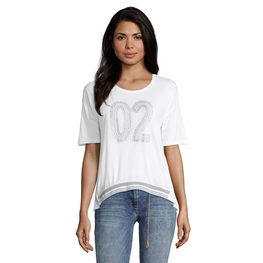 """Dámske biele tričko s nápisom """"O2"""" BETTY BARCLAY"""