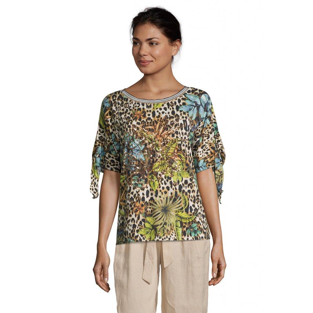Dámske farebné kvetované tričko BETTY BARCLAY