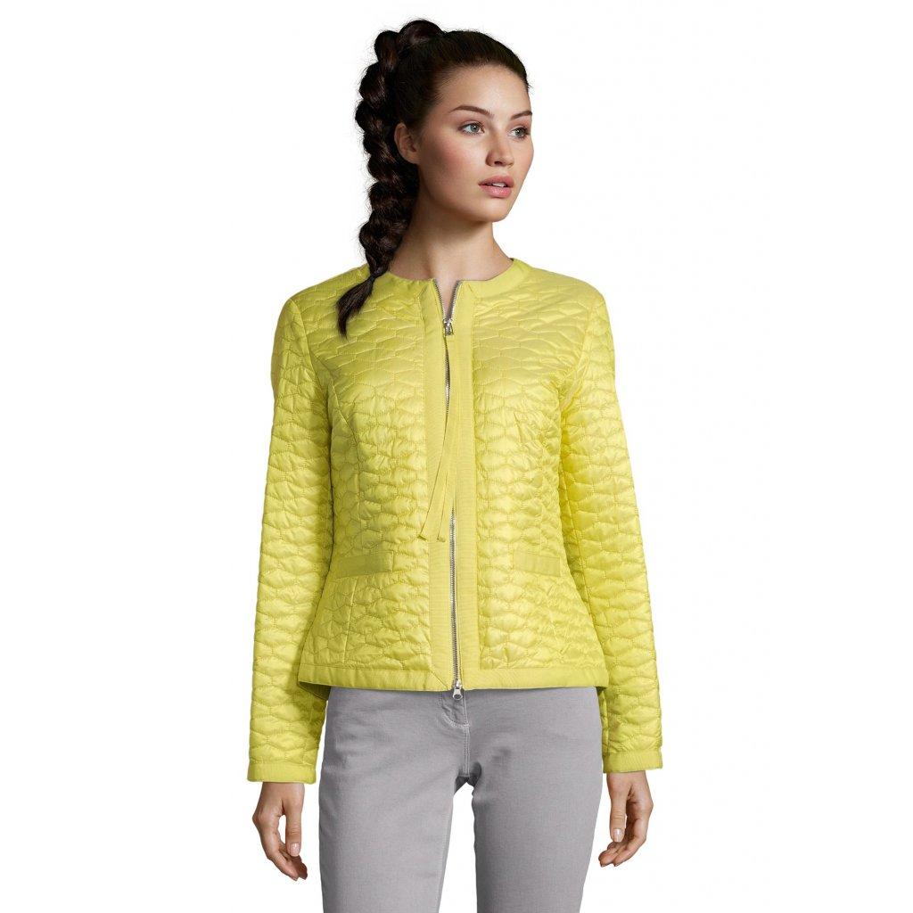 Dámska krátka žltá prechodná bunda-sako BETTY BARCLAY
