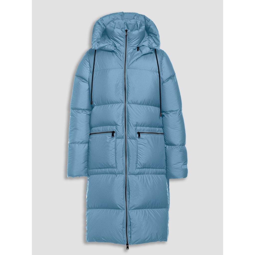 Dámska dlhá superľahká páperová bunda BEAUMONT, odopínacia kapucňa