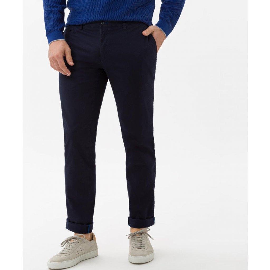 Pánske modré chino nohavice HI-FLEX BRAX, slim fit