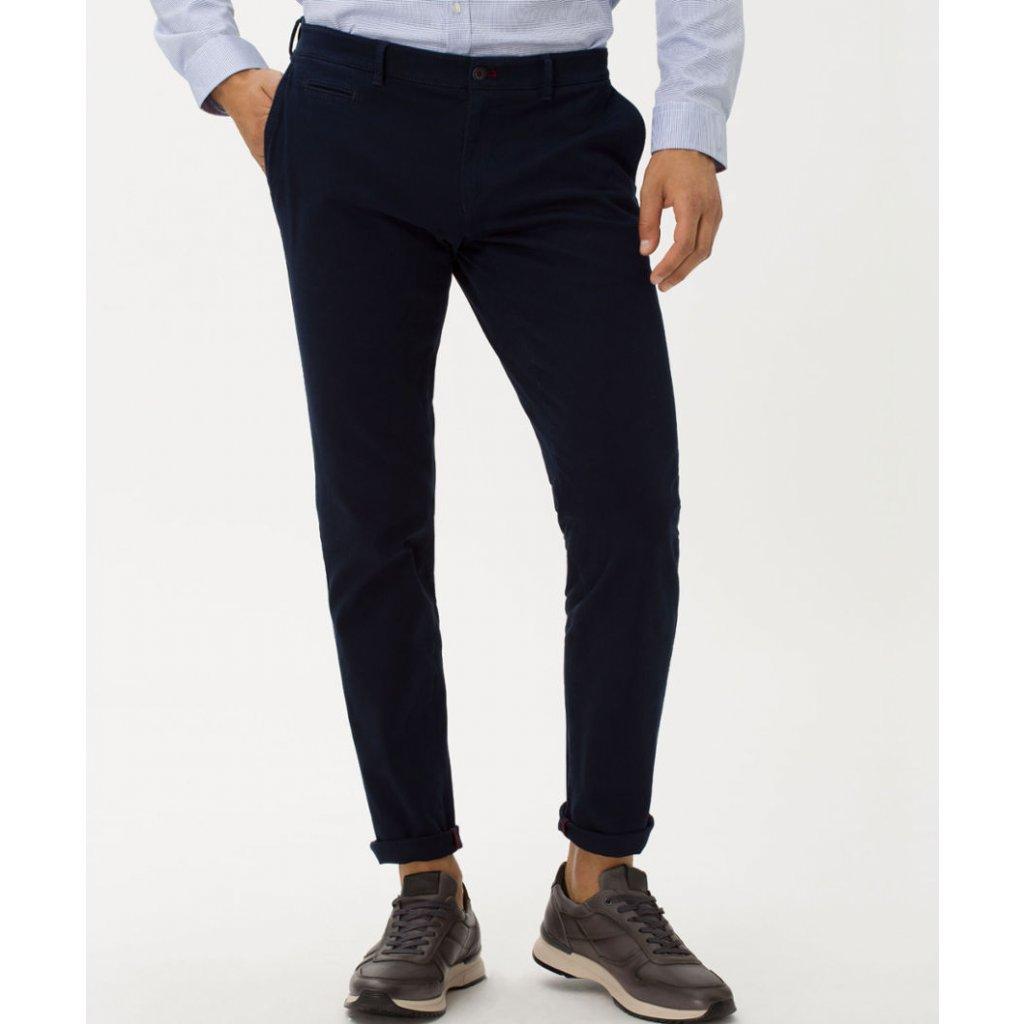 Pánske modré elastické chino nohavice HI-FLEX BRAX, slim fit