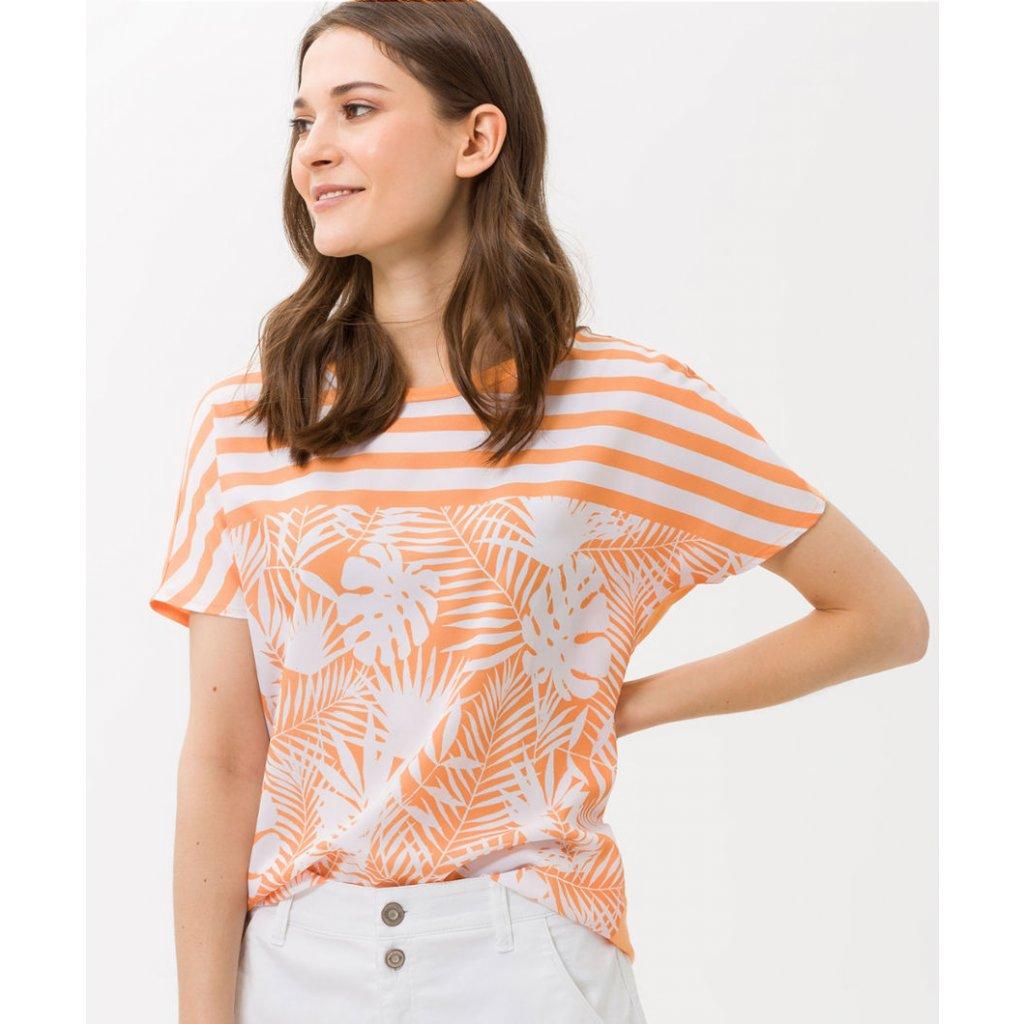 Dámske oranžové vzorované tričko BRAX