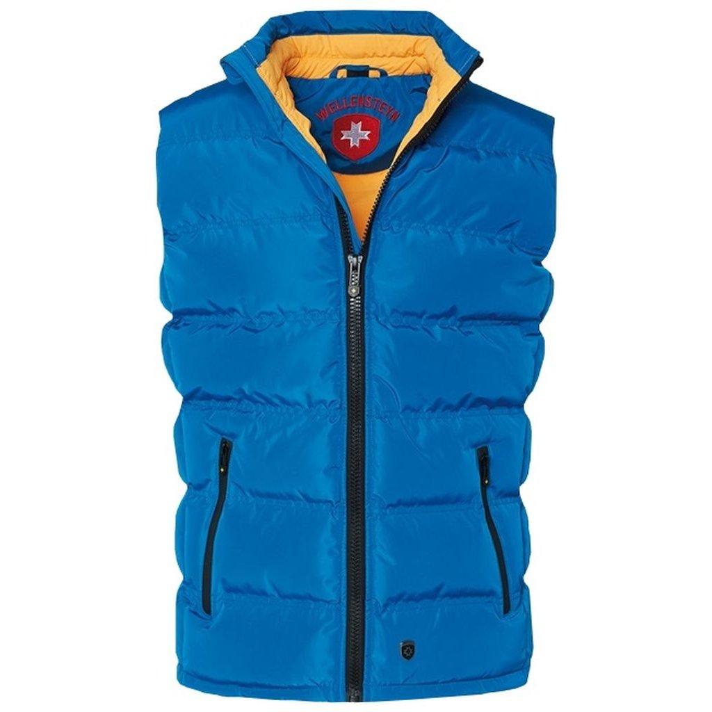 WELLENSTEYN Snowdome Vest - originálna žiarivo modrá pánska zimná vesta