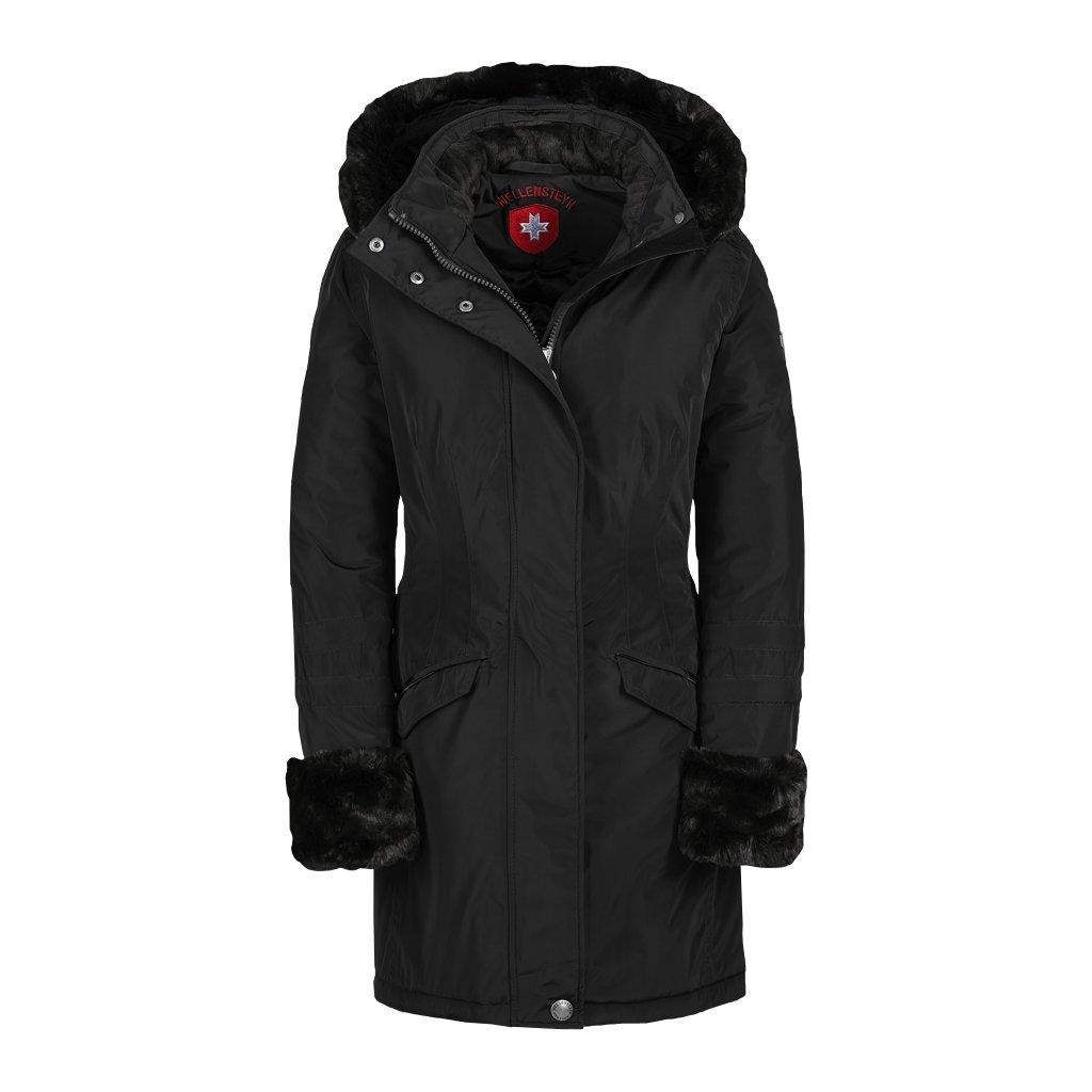 WELLENSTEYN Darling - elegantný čierny funkčný kabát vo vyštíhlenom strihu